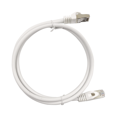 Patch Cord Cat6A 10G blindado 0.5M ( 1.64 ft ) Blanco